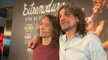 Robe Iniesta e Iñaki Antón en la presentación de la gira de despedida de Extremoduro.
