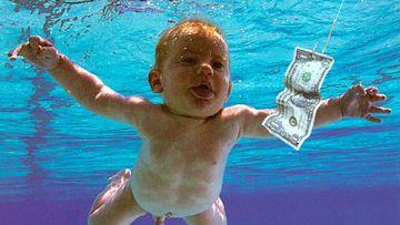 Imagen de Spencer Elden, el bebé que protagonizó la portada de 'Nevermind', de Nirvana.