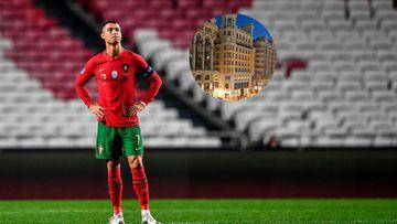 Imagen de Cristiano Ronaldo y el hotel Pestana CR7 Gran Vía.