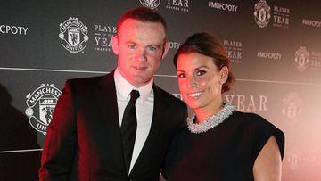 El futbolista inglés Wayne Rooney con su mujer Coolen en unos premios del Manchester United