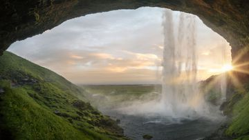 Cascada de Seljalandsfoss, en Islandia.