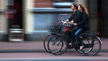 El uso de la bicicleta como transporte ha aumentado.