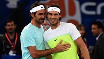 Los tenistas Roger Federer y Rafa Nadal.