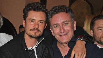 Orlando Bloom y Alejandro Agag en la fiesta de cumpleaños del actor en Marrakech.
