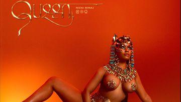 Nicki Minaj empoderada y sensual en la portada de su nuevo disco.