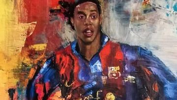 El impresionante cuadro a Ronaldinho que ha sorprendido al futbolista.