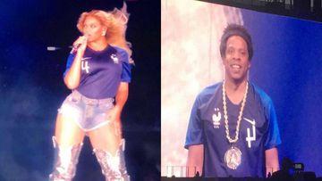 Beyoncé y Jay Z celebraron la victoria de Francia en el Mundial con camisetas de Varane.