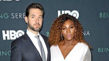 Alexis Ohanian y Serena Williams en un prestreno de HBO.