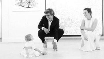 Antoine Griezmann, Erika Chopenera y su hija Mía