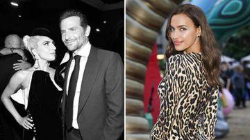 Imágenes de la cantante Lady Gaga con el actor Bradley Cooper y de la modelo Irina Shayk.