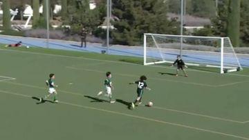 El hijo de Marcelo sorprende con otro golazo en la cantera del Real Madrid