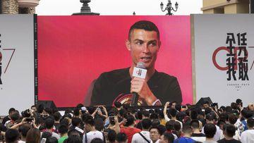 Cristiano Ronaldo en Pekín.