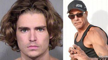 Imágenes de Nicholas Van Varenberg, el hijo menor de Jean-Cleade Van Damme, y de Jean-Cleade Van Damme