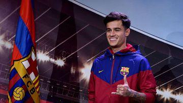 El jugador brasileño del Barcelona, Phillipe Coutinho.