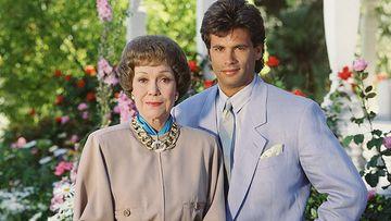 Lorenzo Lamas junto a Jane Wyman.