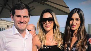 Daniela Ospina con Iker Casillas y Sara Carbonero en Rusia.