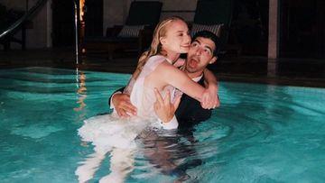 Imagen de Sophie Turner y Joe Jonas.