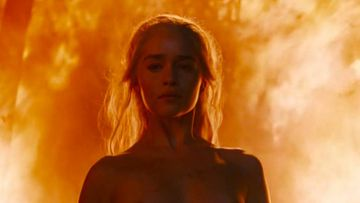 """Emilia Clarke en una escena de """"Juego de Tronos"""""""