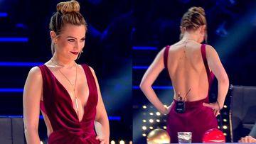 Edurne y su espectacular escote en Got Talent de Telecinco