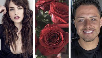 Chicharito manda flores a Andrea duro y ella se lo agradece así. Foto: Instagram