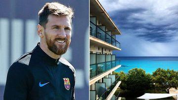Imágenes de Leo Messi y del hotel Sea Sun Fona de s'Illot (Mallorca) que compró en febrero de 2019