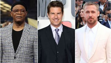 Collage de Samuel L. Jackson, Tom Cruise y Ryan Gosling.