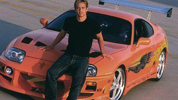 Paul Walker con su Toyota.
