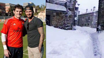 """Casillas invita a su pueblo a Beckham: """"¡Very very cold!"""""""