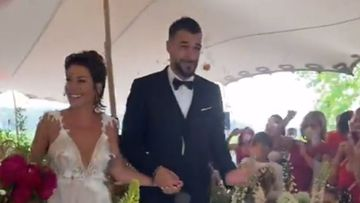 Imagen de la boda de Álvaro Negredo y Amparo Moreno.