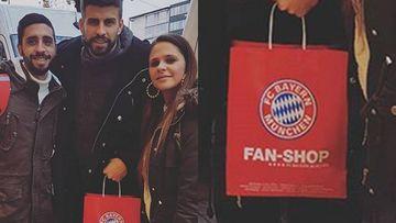 Gerard Piqué aprovechó su día libre con el FC Barcelona para visitar Múnich.