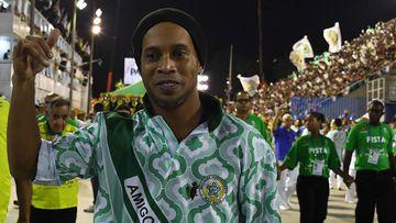 Ronaldinho Gaucho durante el festival de Rio de Janeiro 2018 en Brasil.