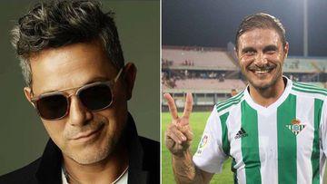 Imágenes del cantante Alejandro Sanz y del futbolista del Betis Joaquín
