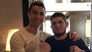 Cristiano, con el luchador de UFC Nurmagomedov tras su visita al Bernabéu. Foto: Instagram