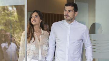 Imagen de Iker Casillas y Sara Carboner.