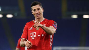 Imagen de Robert Lewandowski con el Bayern Múnich.