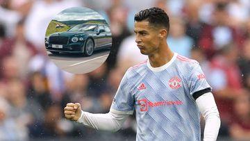 Imagen de Cristiano Ronaldo y su nuevo Bentley.