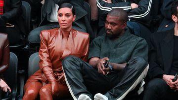 Imagen de Kim Kardashian y Kanye West.