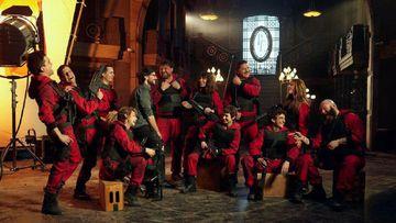 Imagen de los protagonistas de 'La Casa de Papel'.