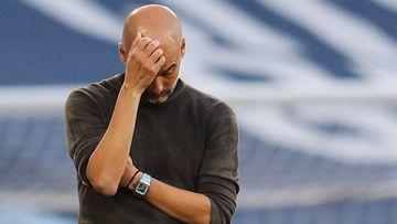 Imagen de Pep Guardiola durante un partido.