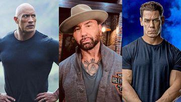 Imagen de Dwayne Johnson, Dave Bautista y John Cena.