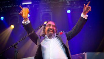 El cantaor Diego El Cigala, durante su actuación en la primera jornada del XXI Festival Sonorama Ribera, en Aranda de Duero (Burgos), el 9 de agosto de 2018. EFE/Paco Santamaría