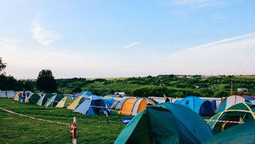 Acampar es parte fundamental de un festival