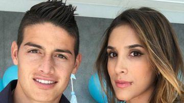 James Rodríguez y Daniela Ospina antes de su divorcio.