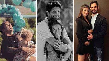 Imágenes de Antoine Griezmann abrazado a su mujer y a su hija, de Fernando Verdasco con Ana Boyer y de Isco con Sara Sálamo.