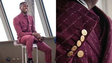 Paul Pogba sorprende con su último look: un extravagante y personalizado traje.