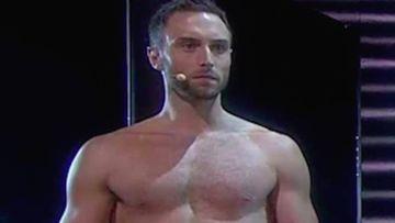 Mans Zemerlow se desnuda en Eurovisión. Foto: Eurovisión