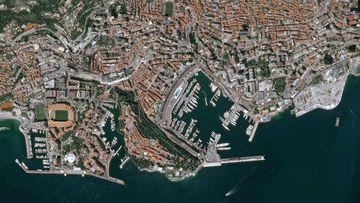 Mónaco a vista de Satélite.