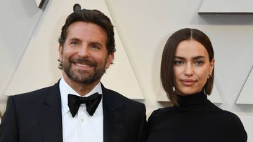 """(FILES) In this file photo taken on February 24, 2019 Best Actor nominee for """"A Star is Born"""" Bradley Cooper (L) and his wife Russian model Irina Shayk arrive for the 91st Annual Academy Awards at the Dolby Theatre in Hollywood. - Bradley Cooper, 44 and Irina Shayk, 33, have split after being in a relationship for four years. They have a 2 years old daughter, Lea De Seine Shayk Cooper. (Photo by Mark RALSTON / AFP)"""