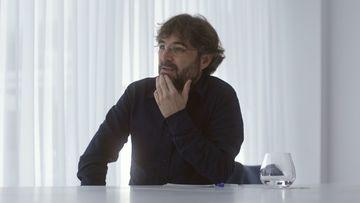 Imagen de Jordi Évole en su entrevista con Leo Messi.