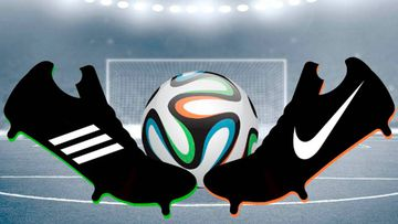 Botas de fútbol de Adidas y de Nike